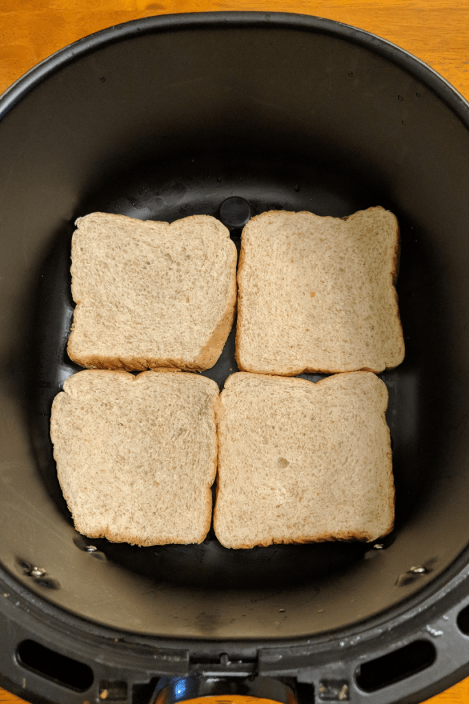four-slices-of-bread-in-air-fryer