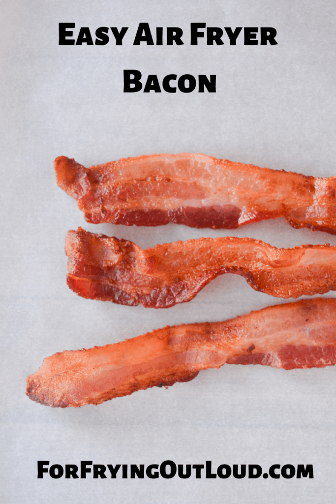 This post will show you how to get air fryer bacon, perfectly cooked, every time. Afraid your air fryer will smoke? I've got a fix for that too!