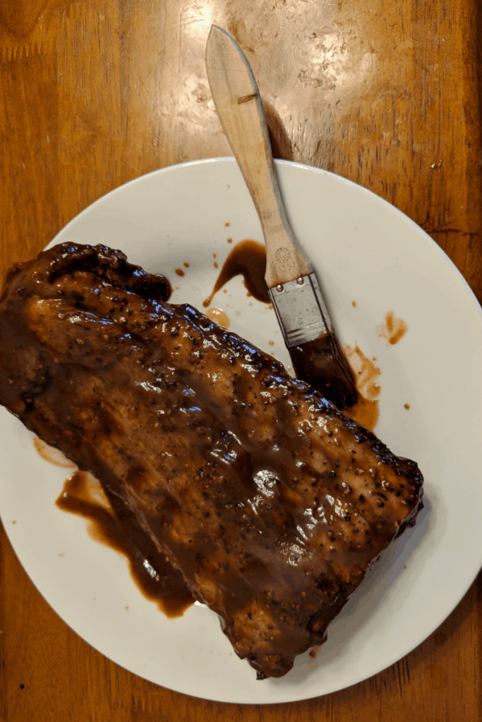 air-fryer-ribs-with-sauce