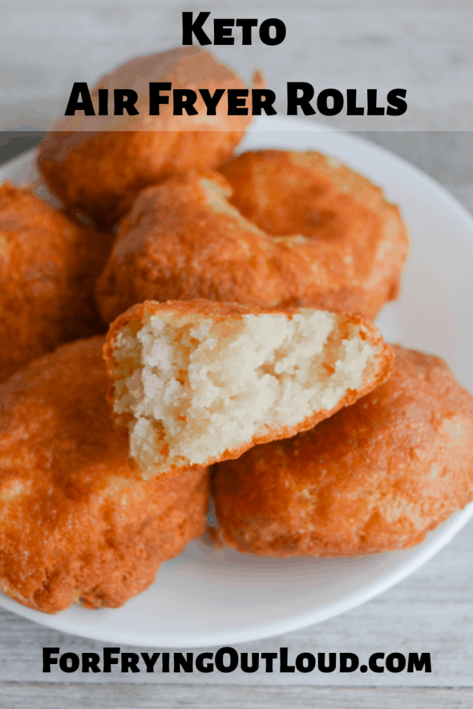 These easy keto air fryer rolls are the perfect bread substitute to support your low carb lifestyle! With only a few simple ingredients, and 10 minutes of cook time, they'll quickly become a staple in your keto household! | forfryingoutloud.com
