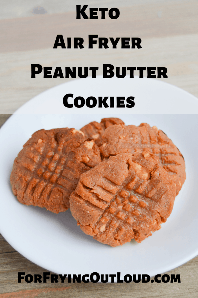 These air fryer keto peanut butter cookies are some of the easiest cookies you'll ever make! 3 ingredients is all you need to make this low carb treat! | forfryingoutloud.com