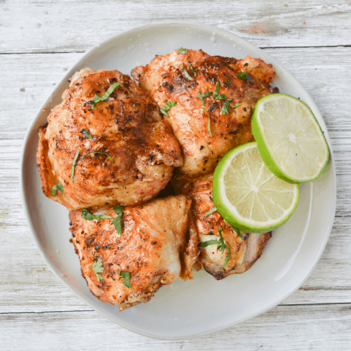 Cilantro Lime Chicken Thighs - Air Fryer Recipe