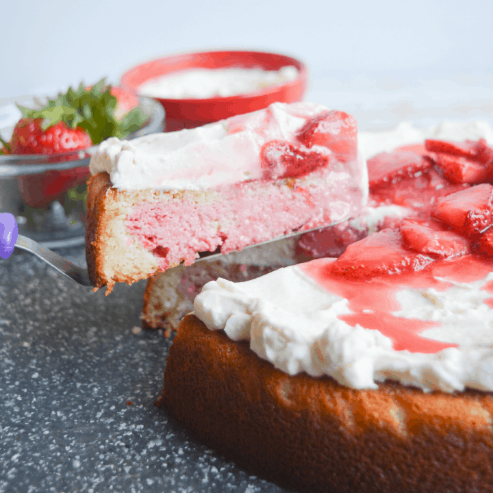 Low Carb Strawberry Pound Cake